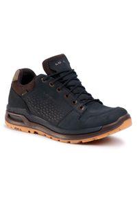 Czarne buty trekkingowe Lowa Gore-Tex, trekkingowe, z cholewką