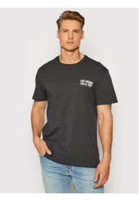 Lee T-Shirt Graphic L63BFEON Szary Relaxed Fit. Kolor: szary