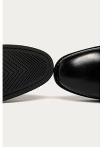 Czarne botki GANT z cholewką, z okrągłym noskiem