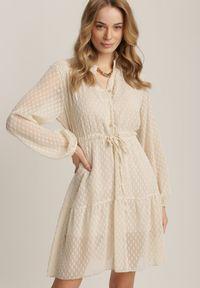 Beżowa sukienka mini Renee