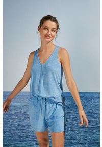 Women Secret - women´secret - Piżama. Kolor: niebieski