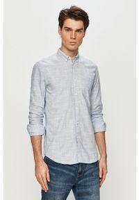 Niebieska koszula Tom Tailor długa, casualowa