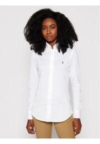 Polo Ralph Lauren Koszula Heidi 211664427003 Biały Slim Fit. Typ kołnierza: polo. Kolor: biały