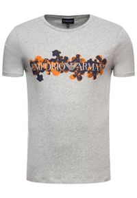 Emporio Armani T-Shirt 3H1T6S 1JQ4Z 0616 Szary Regular Fit. Kolor: szary