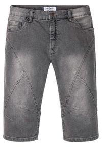 Szare jeansy bonprix długie