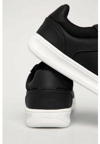 Czarne sneakersy Levi's® z okrągłym noskiem, z cholewką