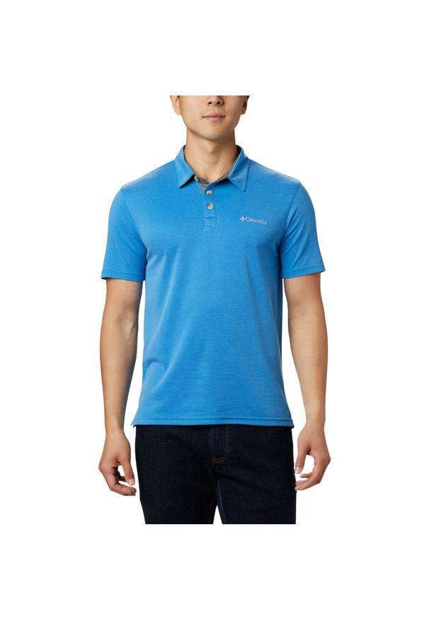 Niebieska koszulka sportowa columbia polo