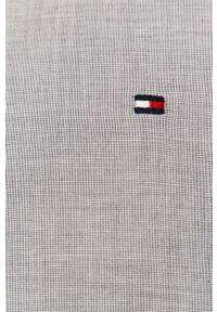 TOMMY HILFIGER - Tommy Hilfiger - Koszula bawełniana. Kolor: szary. Materiał: bawełna. Długość rękawa: długi rękaw. Długość: długie