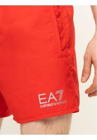 EA7 Emporio Armani Szorty kąpielowe 902000 CC721 00074 Czerwony Regular Fit. Kolor: czerwony