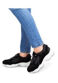 Czarne buty sportowe N/M w kolorowe wzory, trekkingowe