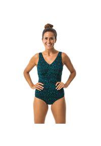 NABAIJI - Strój jednoczęściowy do gimnastyki w wodzie damski Nabaiji Romi Nick. Kolor: zielony. Materiał: poliester, materiał, elastan