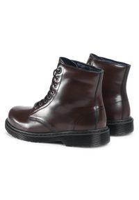 Brązowe buty zimowe Sergio Bardi eleganckie, z cholewką