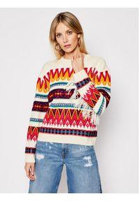 Beżowy sweter klasyczny My Twin