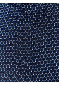 Niebieska koszula TOP SECRET biznesowa, na zimę, w kolorowe wzory, z klasycznym kołnierzykiem #7