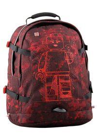 Czerwony plecak LEGO wakacyjny, z aplikacjami