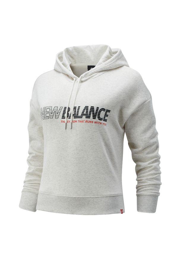 Bluza sportowa New Balance z długim rękawem, z kapturem, długa