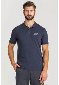 Koszulka polo EA7 Emporio Armani z nadrukiem, sportowa, polo