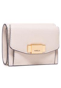 Marella - Mały Portfel Damski MARELLA - Bosco 671302112 001. Kolor: beżowy. Materiał: skóra