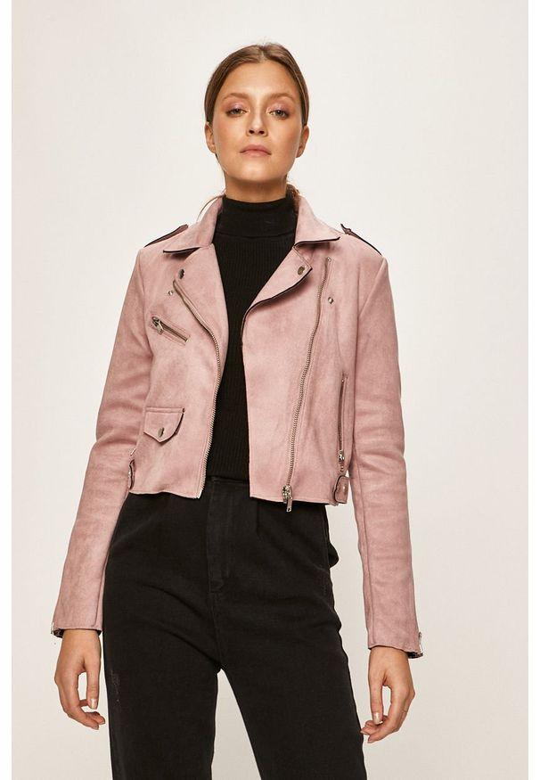 Fioletowa kurtka only klasyczna, bez kaptura, na co dzień