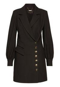 Czarny płaszcz przejściowy Babylon