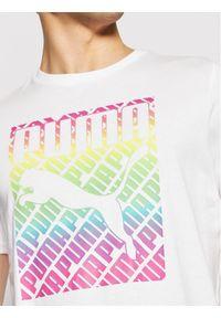 Puma T-Shirt Pride 587777 Biały Regular Fit. Kolor: biały