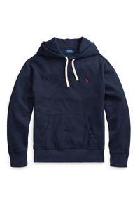 Ralph Lauren - RALPH LAUREN - Granatowa bluza z kapturem. Typ kołnierza: kaptur. Kolor: niebieski. Materiał: polar, jeans, bawełna. Długość rękawa: długi rękaw. Długość: długie. Wzór: haft