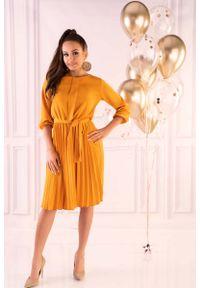 Żółta sukienka wizytowa Merribel wizytowa