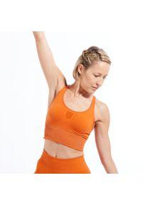 Biustonosz sportowy DOMYOS z wyjmowanymi miseczkami, na jogę i pilates