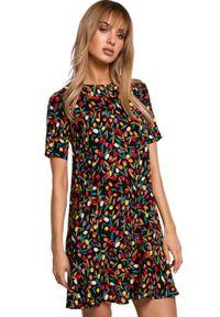 Sukienka MOE w kwiaty, na lato, trapezowa