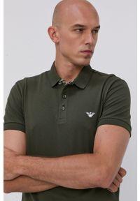 Emporio Armani Underwear - Emporio Armani - Polo. Okazja: na co dzień. Typ kołnierza: polo. Kolor: zielony. Materiał: dzianina. Długość: krótkie. Wzór: gładki. Styl: casual