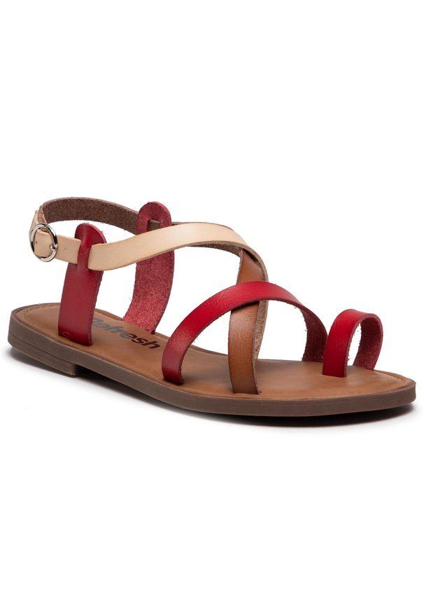 Refresh - Sandały REFRESH - 72655 Rojo. Okazja: na co dzień. Kolor: czerwony. Materiał: skóra ekologiczna, skóra. Sezon: lato. Styl: casual