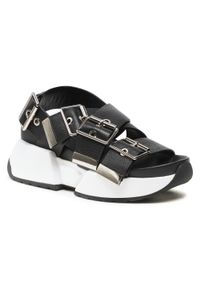 Czarne sandały Sca'viola