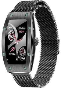 Smartwatch Kumi K18 Czarny. Rodzaj zegarka: smartwatch. Kolor: czarny