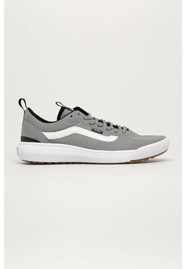 Szare sneakersy Vans na sznurówki, z okrągłym noskiem