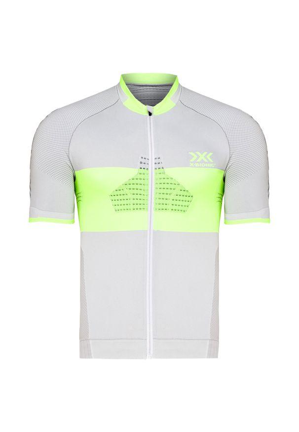 Szara koszulka termoaktywna X-Bionic z krótkim rękawem, rowerowa