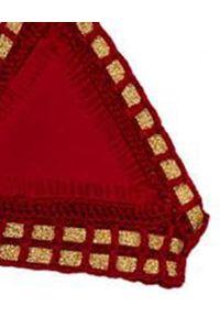KIINI - Top od bikin Kiki. Kolor: czerwony. Materiał: materiał. Wzór: aplikacja