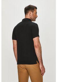 Czarna koszulka polo Trussardi Jeans polo, krótka, gładkie