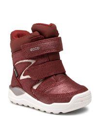 ecco - ECCO Śniegowce Urban Mini GORE-TEX 75477105480 Bordowy. Kolor: czerwony