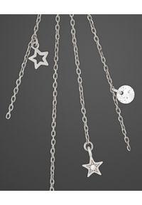 SIN BY MANNEI - Srebrne Kolczyki Stars & Crystals. Materiał: srebrne. Kolor: srebrny. Kamień szlachetny: cyrkonia