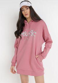 Born2be - Różowa Bluza Sylphishis. Kolor: różowy