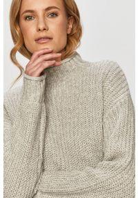 TALLY WEIJL - Tally Weijl - Sweter. Kolor: szary. Materiał: dzianina. Długość rękawa: długi rękaw. Długość: długie