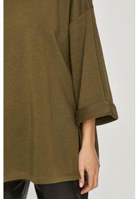 Zielona bluza Answear Lab bez kaptura, wakacyjna