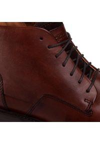 Brązowe buty zimowe Gino Rossi z cholewką