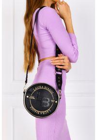Laura Biaggi - Czarna torebka mała okrągła laura biaggi js143. Kolor: czarny