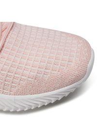 Różowe buty do fitnessu Sprandi z cholewką, na płaskiej podeszwie