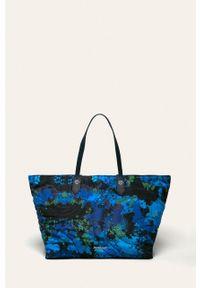 Niebieska shopperka Desigual na ramię, duża