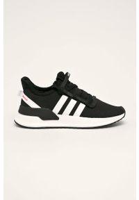 Czarne buty sportowe adidas Originals z cholewką, do biegania, z okrągłym noskiem, na sznurówki