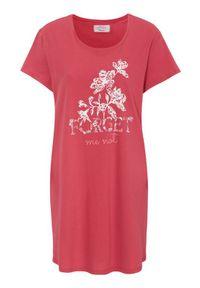 Triumph Koszula nocna z napisem malinowy female czerwony 40. Kolor: czerwony. Materiał: jersey. Długość: krótkie. Wzór: napisy