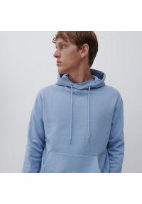 Reserved - Bluza z kapturem - Niebieski. Typ kołnierza: kaptur. Kolor: niebieski