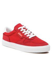 s.Oliver - Sneakersy S.OLIVER - 5-13602-36 Red 500. Okazja: na co dzień. Kolor: czerwony. Materiał: skóra, skóra ekologiczna, materiał. Szerokość cholewki: normalna. Styl: sportowy, casual